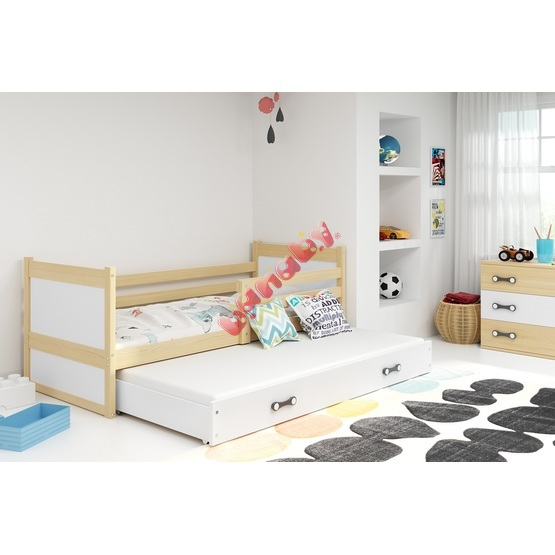 Children bed with bed Rocky - natural-white