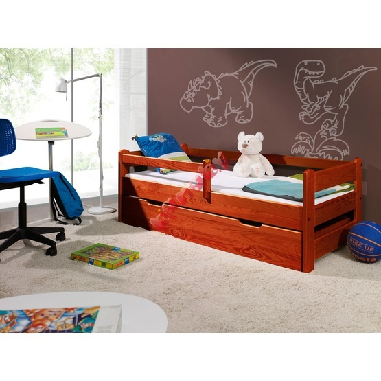 Children's Bed with Safety Rail - Cherry