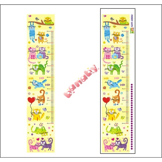 Children's growth chart 25 - FUNNY CATS