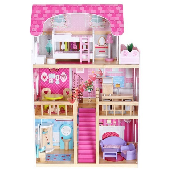 Pink Residency Wooden Dolls' House