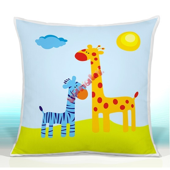 Pillow SAFARI giraffe A ZEBRA 22