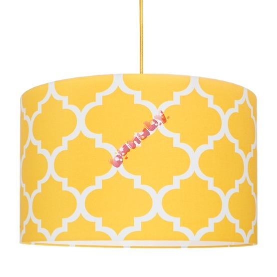 Textile hanging lamp Morocco - yellow