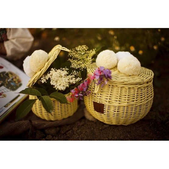 LILU Wicker basket yellow