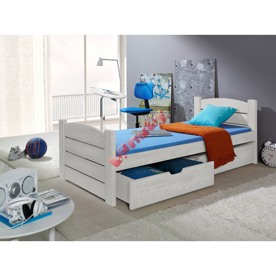 Wooden bed ROMA white