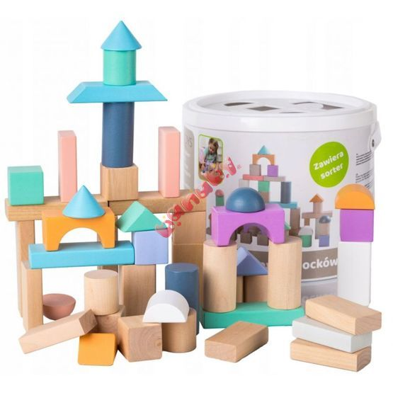 Wooden building blocks 50 pc