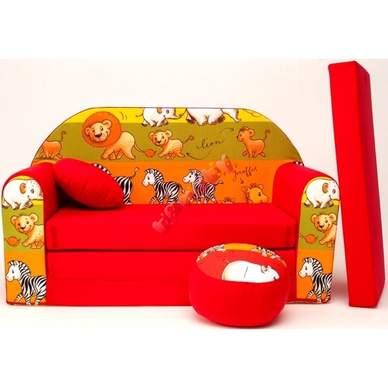 Kids' sofa Jungle Red 4