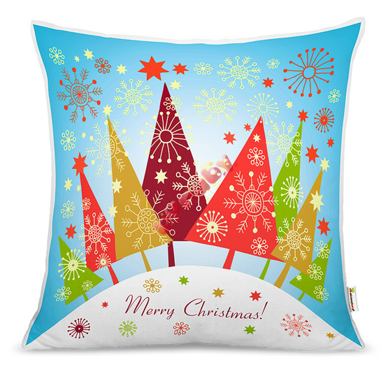Christmas pillow - christmas trees