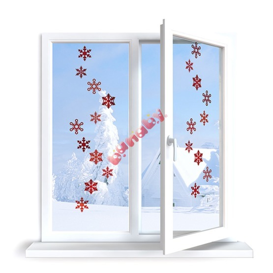 Window stickers - pattern 10 snow flakes