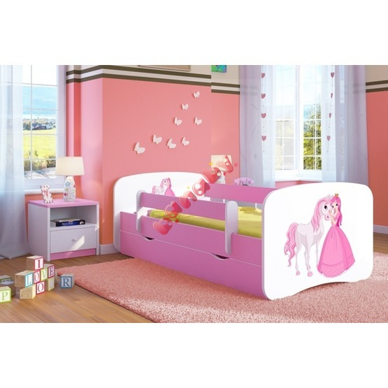 Ourbaby Children's Bed with Safety Rail - Princess with Horse