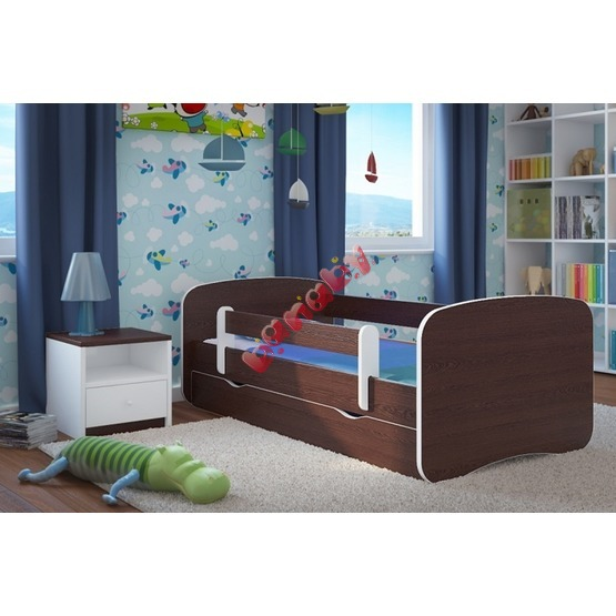 Ourbaby Children's Bed with Safety Rail - Wenge