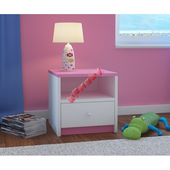 Ourbaby children nightstand - pink and white