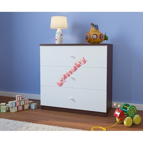 Ourbaby children's chest of drawers - wenge