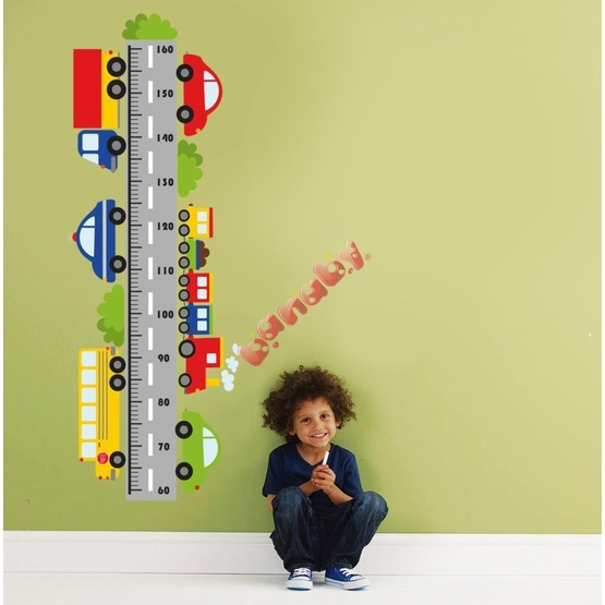 Wall Decoration - Height Chart and Cars