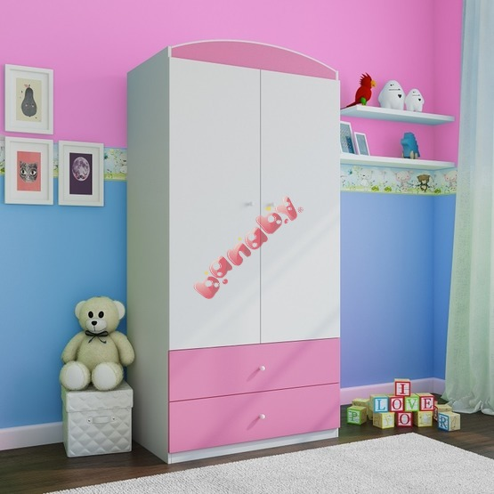Ourbaby wardrobe cupboard - pink-white
