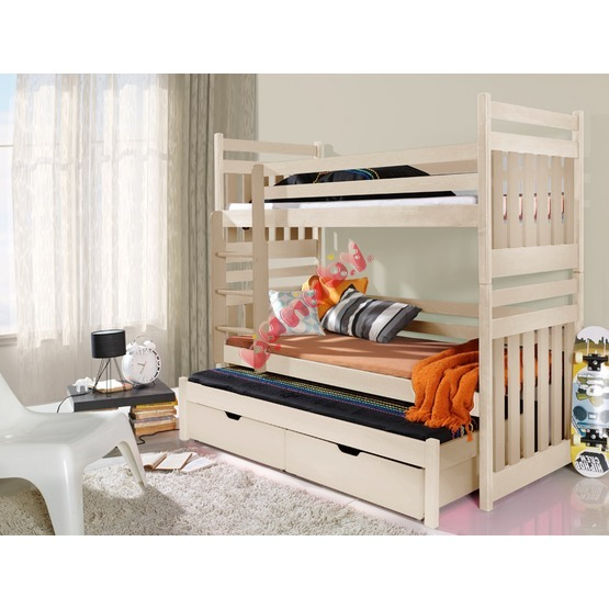 Storey bed with bed Alex natural