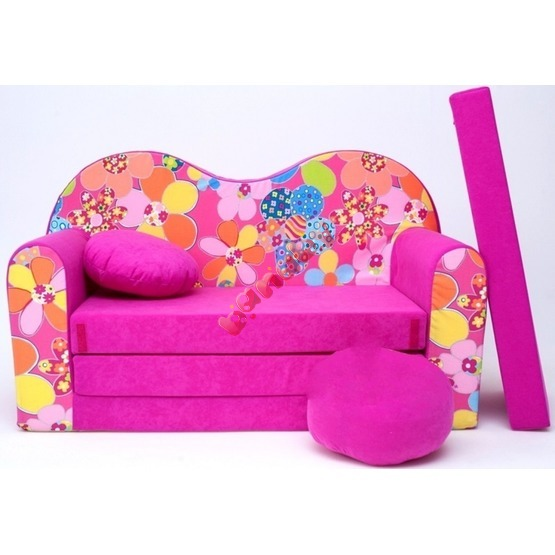 Flowers Children's Sofa Bed