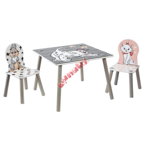 Children's table with chairs - Disney heroes
