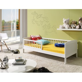 White Junior Children's Bed - 140 x 70 cm, Ourbaby