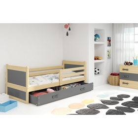 Children bed Rocky - natural-gray, BMS