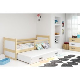 Children bed with bed Rocky - natural-white, BMS