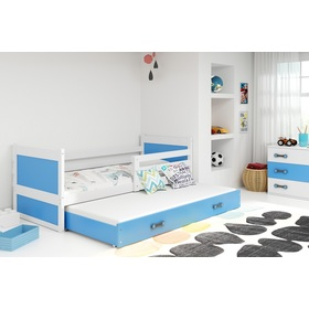 Children bed with bed Rocky - white-blue, BMS