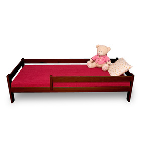 Children's Bed with Safety Rail - Oak