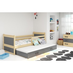 Children bed with bed Rocky - natural-gray, BMS