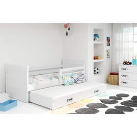 Children bed with bed Rocky - white, BMS