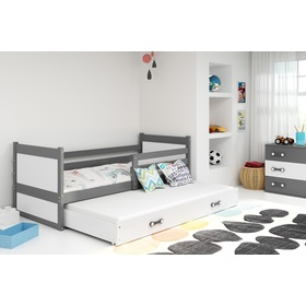 Children bed with bed Rocky - gray-white, BMS