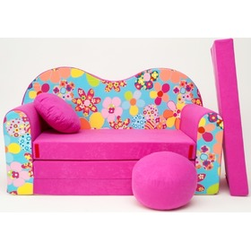 Colourful Flowers Children's Sofa Bed