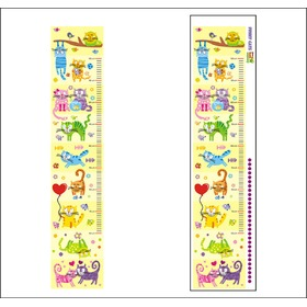 Children's growth chart 25 - FUNNY CATS, Mint Kitten