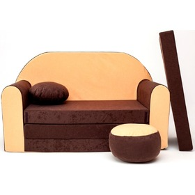 Children's Sofa Bed - Brown-Orange