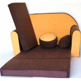 Children's Sofa Bed - Brown-Orange, Welox