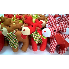 Plush christmas reindeer, Mint Kitten