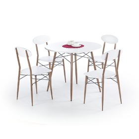 Record 1+4 Round Dining Furniture Set, Halmar