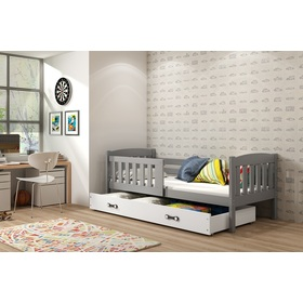 Children bed Exclusive grey - white detail