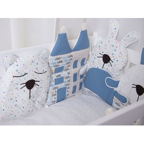 Cushion to cribs - blue