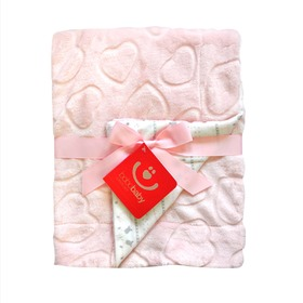 Children blanket hearts KCSN-36 different color, Bobas