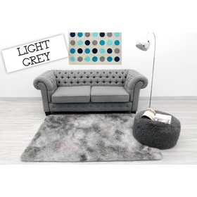 Ombré Light Grey Children's Plush Rug