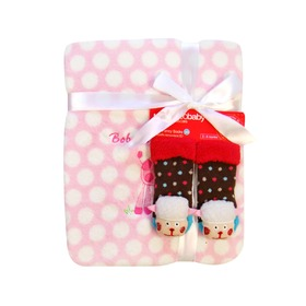 Gift set - puppy blanket + socks SET 7, Bobas