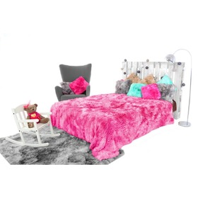 Blanket bed cover ELMO OMBRE PINK