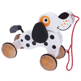 Wooden Pull Dog, EcoToys