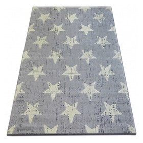 Stars Children's Rug - Grey