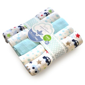 Cotton Muslins - Various Patterns - 5 pack, Bobas