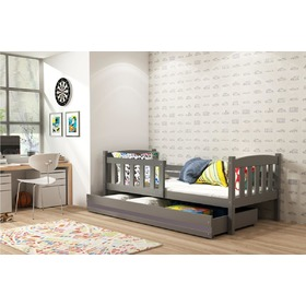 Bed Exclusive grey  for children - grey detail