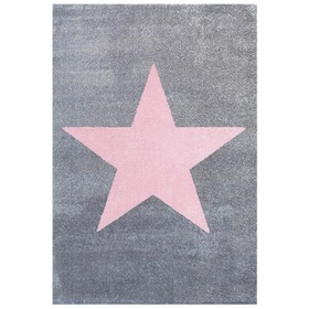 STAR Children's Rug - Silver-Grey/Pink