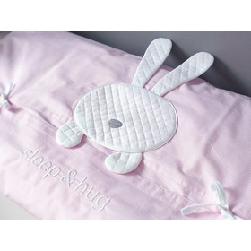 3-Piece Sleep&Hug Baby Cot Bedding Set - Pink, Modenex