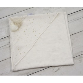 LILU muslin blanket with hood 120x120cm