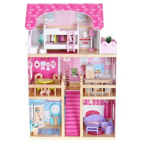 Pink Residency Wooden Dolls' House, EcoToys