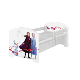 Children's bed with a barrier - Ice Kingdom 2 - Norwegian pine decor, BabyBoo, Frozen